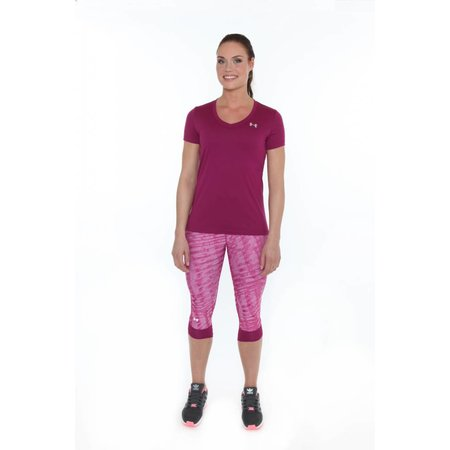 Under Armour Dames Hardloopshirt Tech SS Solid Aubergine