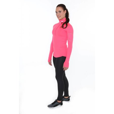 Under Armour Dames Hardloopshirt Fly Fast 1/2 zip roze