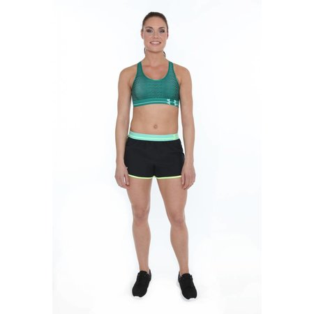 Under Armour Ladies bra top HeatGear Alpha Printed Bra Green