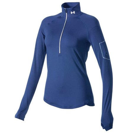 Under Armour Dames Hardloopshirt Fly Fast 1/2 zip blauw
