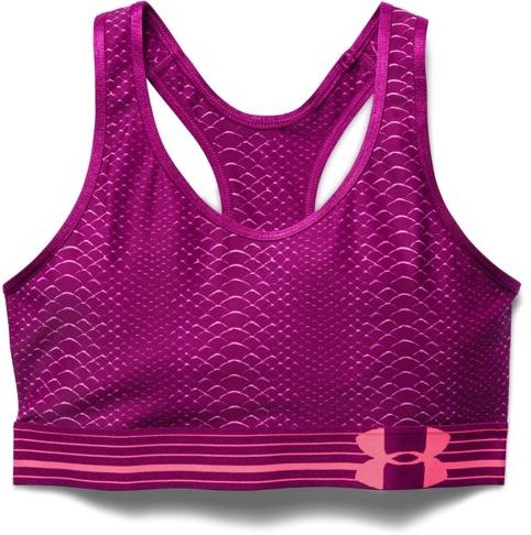 ... Under Armour Ladies bra top HeatGear Alpha Printed Bra Augergine e5c094548