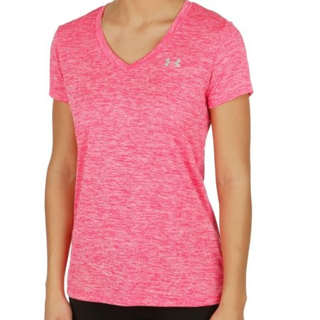 Under Armour Dames Hardloopshirt Tech SS Twist roze