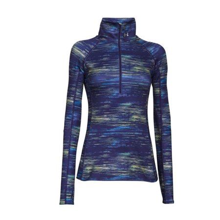 Under Armour Dames hardloopshirt Cozy printed 1/2 zip