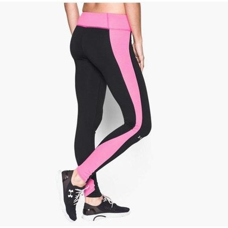 Under Armour Ladies Hardlloopbroek Inset Stripe Gold Gear Leggings