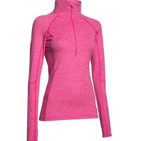 Under Armour Dames hardloopshirt Cozy printed 1/2 zip roze