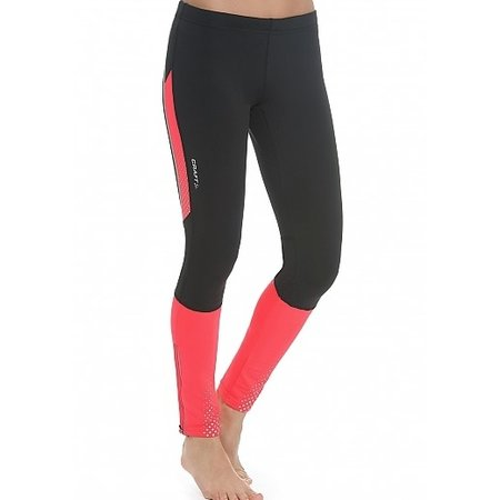 Craft Dames hardloopbroek Brilliant Thermal tight zwart/roze