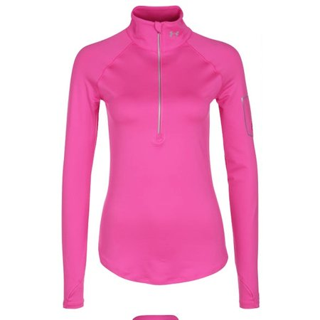 Under Armour Dames Hardloopshirt Fly Fast 1/2 zip hard roze