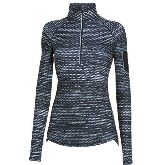 ... Under Armour Women's Running Shirt Fly Fast Printed 1/2 zip - Black/ white ...