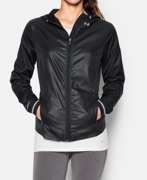 ... Under Armour Ladies running jacket Storm Layered Up jack Black ...