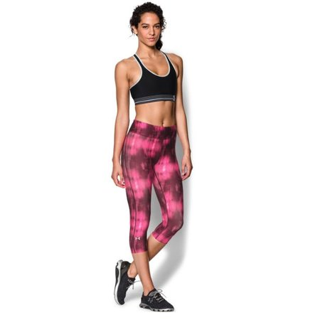Under Armour Dames Hardlloopbroek Heatgear Compressie Printed Capri