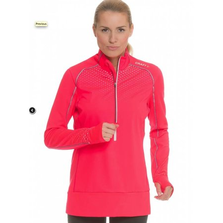 Craft Dames hardloopshirt Windstopper Brilliant Thermal Wind roze