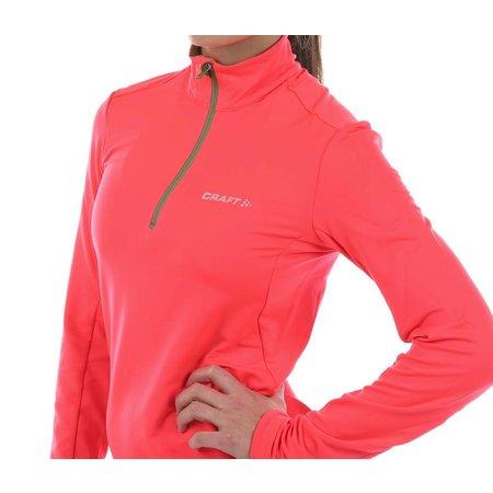 Craft Dames hardloopshirt Facile Halfzip roze