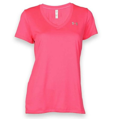 Under Armour Dames Hardloopshirt Tech SS Solid roze