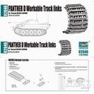 Trumpeter Militärfahrzeuge 1:35 Panther D Workable Track Links VK1602 Leopard 02046 1:35