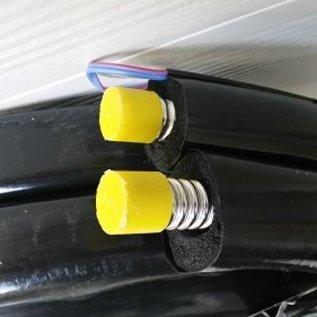 TechniQ Energy 20 Meter dubbele, met EPDM geïsoleerde, RVS ribbelslang met geïntegreerde sensor draad