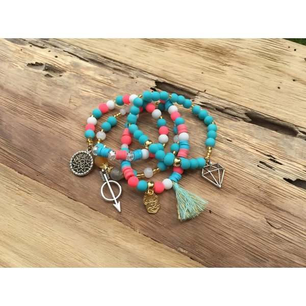 Colombianas - kleurrijke handgemaakte armbandjes MATT