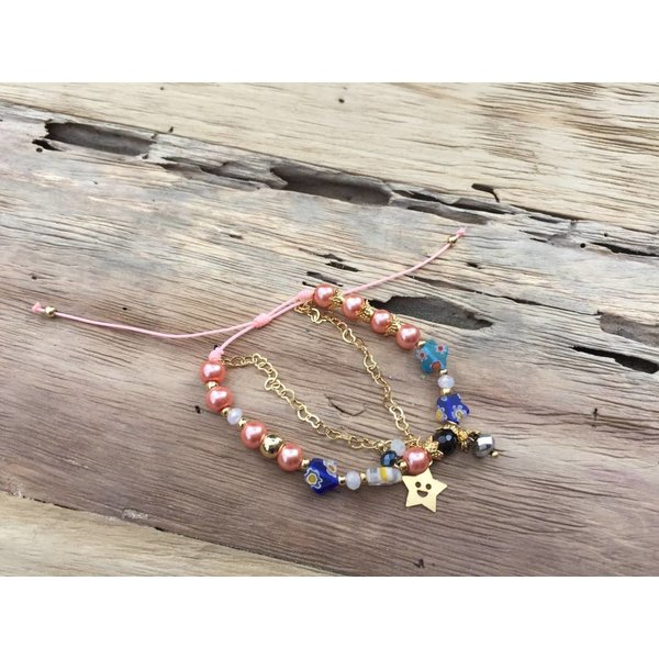 Colombianas - kleurrijke handgemaakte armbandjes STAR