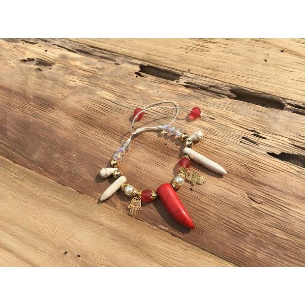 Colombianas - colorful handmade bracelets RED