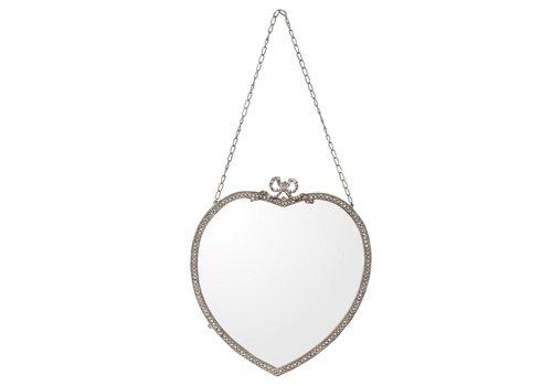 Clayre & Eef Hartvormige spiegel - 30x2x55 cm