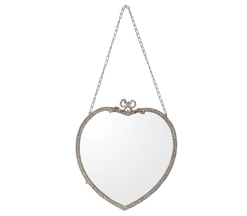 Hartvormige spiegel - 30x2x55 cm