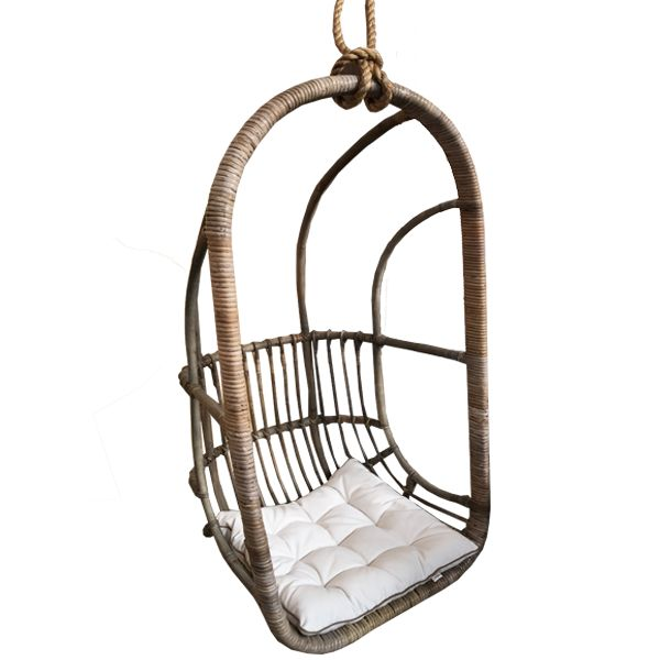 Houss Living Hangstoel Rotan - 67x63xH125 cm