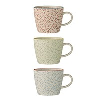KoffieMok Laura set van 3 - Ø9,5xH8 cm