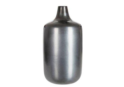 J-Line Vaas Keramiek antraciet grijs - 49x26x26 cm