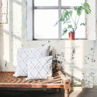 Canvas woonkussen met grafische print - 70xH70 cm