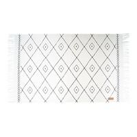 Canvas vloerkleed met grafische print - 60x90 cm