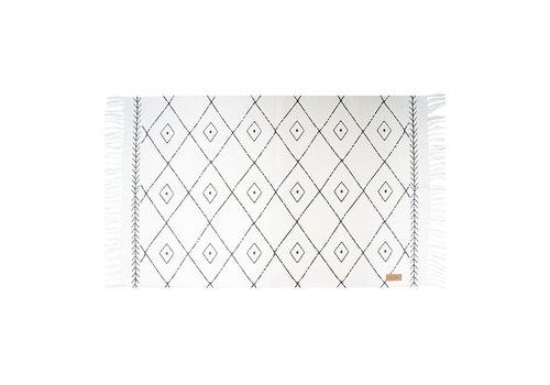 Zusss Canvas vloerkleed met grafische print - 60x90 cm