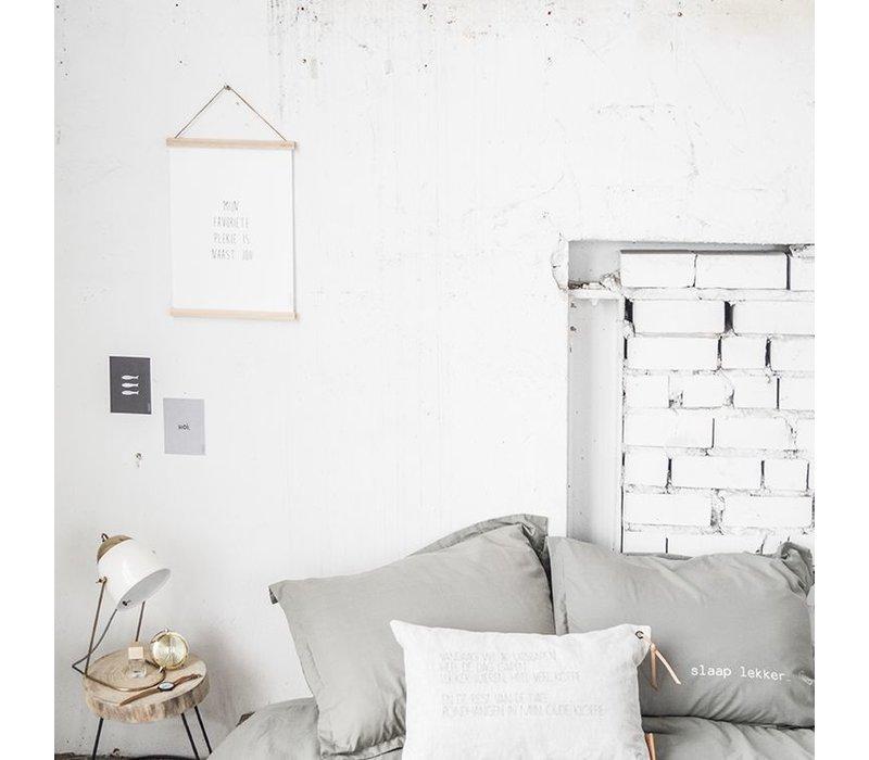 """A3 poster met lijst """"mijn favoriete plekje"""" - 30xH42 cm"""