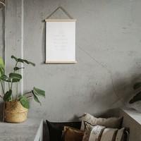"""A3 poster met lijst """"liefst veel zon"""" - 30xH42 cm"""