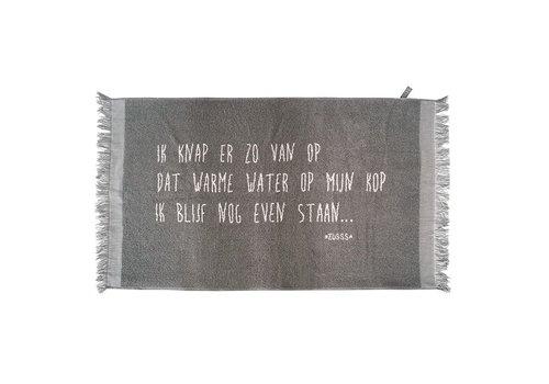 Zusss Badhanddoek tekst antracietgrijs - 60x115 cm