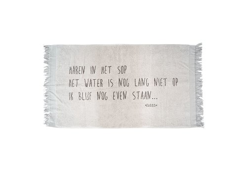 Zusss Badhanddoek tekst zandkleur - 60x115 cm