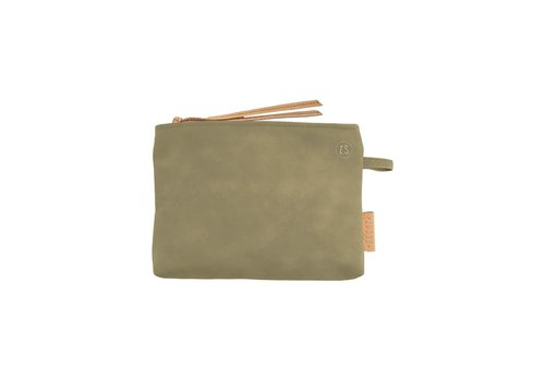 Zusss Make-up tasje leer olijfgroen - 22xH16 cm