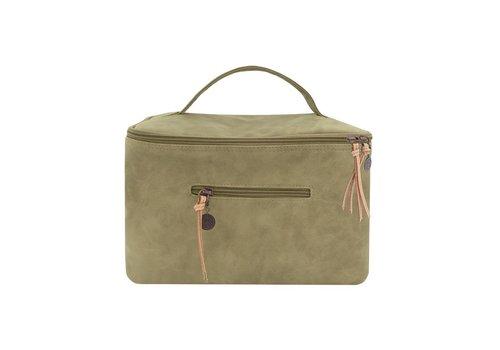 Zusss Luxe beautycase olijfgroen - 28x18xH19 cm