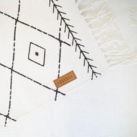 Canvas placemat met grafische print - 33x48 cm