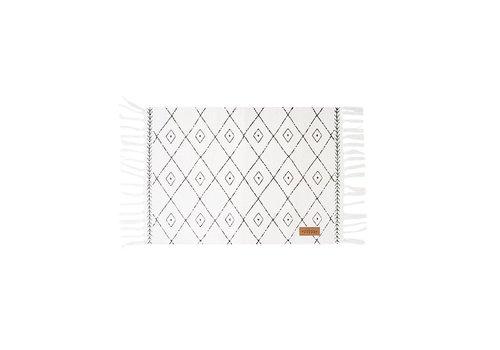 Zusss Canvas placemat met grafische print - 33x48 cm