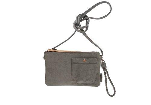Zusss Eenvoudige tas middengrijs - 25x2xH15 cm