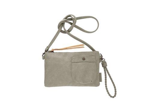 Zusss Eenvoudige tas zeegrijs - 25x2xH15 cm