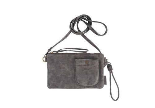 Zusss Eenvoudige tas antracietgrijs - 25x2xH15 cm