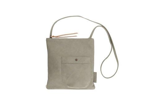 Zusss Eenvoudige tas zeegrijs - 28x2xH30 cm