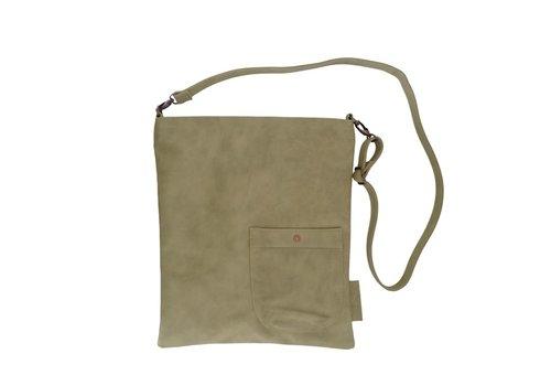 Zusss Eenvoudige tas olijfgroen - 35x2xH40 cm