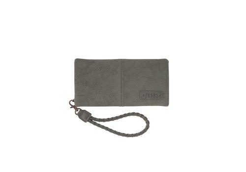 Zusss Luxe portemonnee middengrijs - 11,5x21 cm