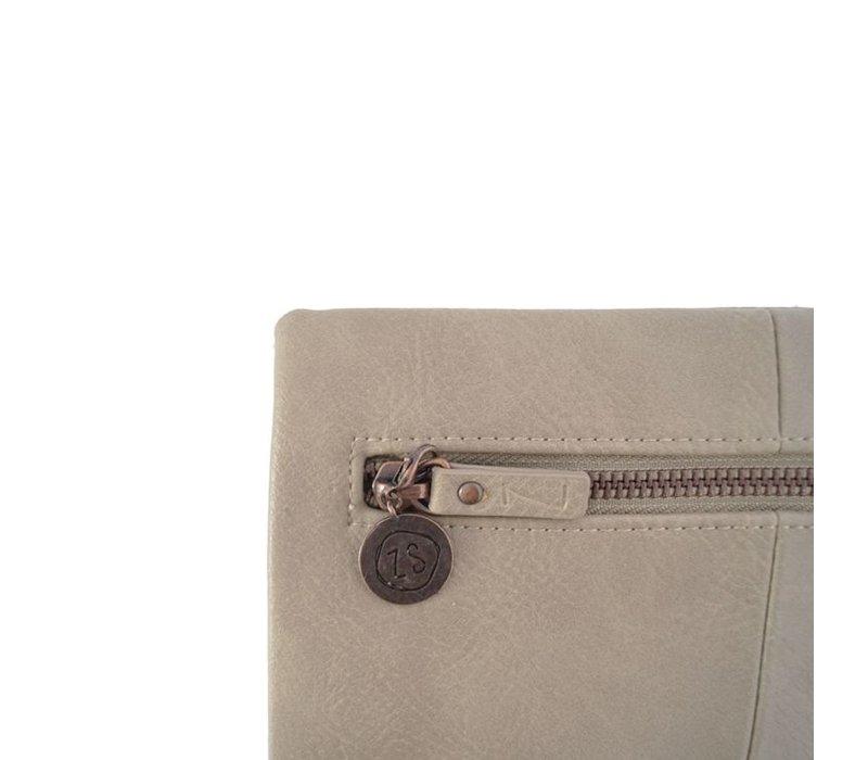 Luxe portemonnee zand - 11,5x21 cm
