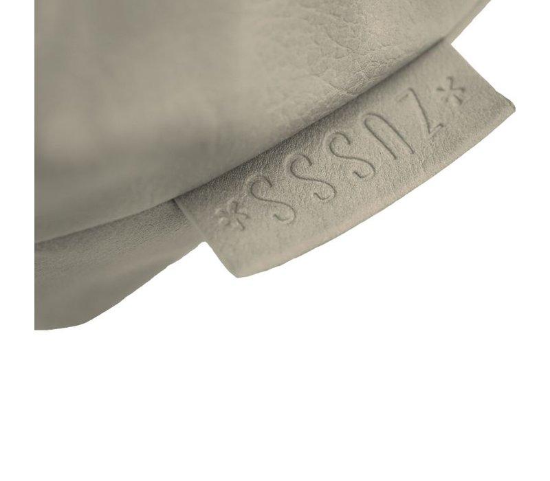Luxe schoudertas zeegrijs - 34x13xH34 cm