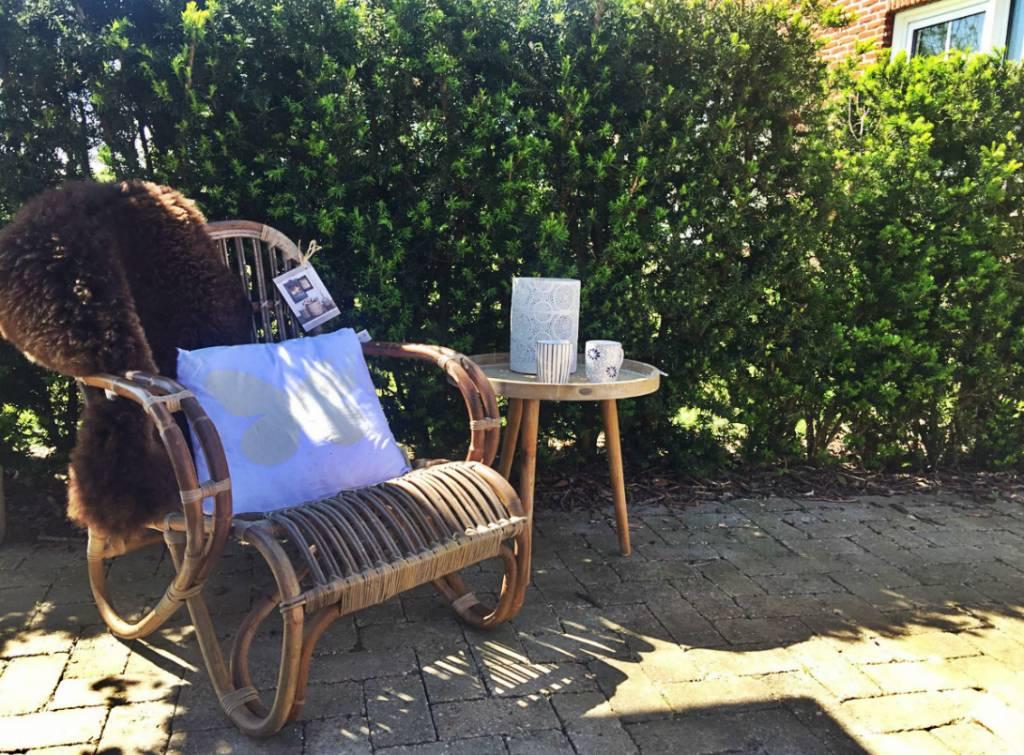 Rotan Lounge Stoel : Naturel rotan loungestoel mahakan houss