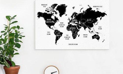 Een toffe wereldkaart voor aan de muur!