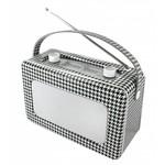 Soundmaster Retroradio TR85 zwart wit geruit