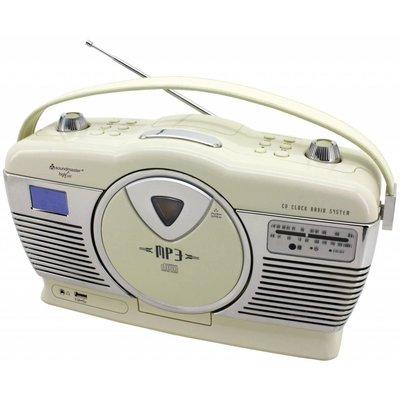 retro radio cd speler rcd1350 beige winkel van de. Black Bedroom Furniture Sets. Home Design Ideas
